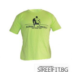 STREETFIT.BG Ви представя уникалната тениска с надпис IRON PRIDE TEAM, перфектна както за ежедневно облекло, така и за тренировка на лостовете.