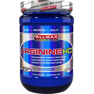 Аргинин ALLMAX / 400гр - Аргининът спомага най-вече за възможността да се доставя на разположение повече кислород и градивни елементи към мускулатурата.