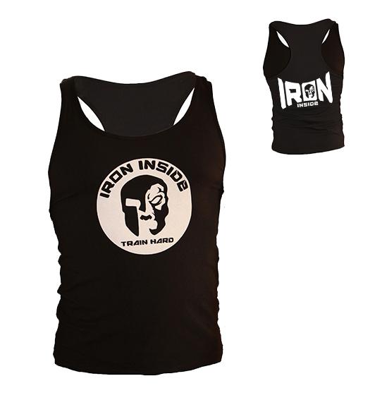 Спортен потник / IRONINSIDE- черен, идеален за всякакви видове тренировки, или като ежедневно облекло. Произведен е от 60% памук и 40% полиестер.