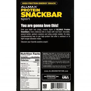 Protein Snackbar sport / 57грна Американската фирма Allmax е уникален на вкус бейкед бар, създаден специално за всички вас
