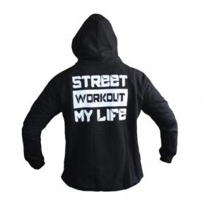Стрийт уъркаут суитшърт MY LIFE - невероятно стилна качулка, шнурове на качулката, ластици на китката и талията, големи и удобни двойни предни джобове.