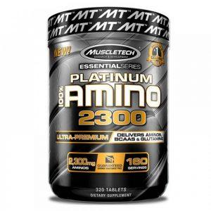 PLATINUM Amino 2300 е продукт който съдържа пълен набор от амоникиселини и отделно BCAA`s и Glutamine във всяка доза (таблетка).