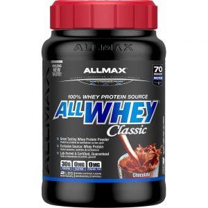 Allwhey Classic Allmax/ 907гр протеинът съставен по последни иновационни технологии при извличането на Whey Protein за създаването на 3-степенна NitriCore™