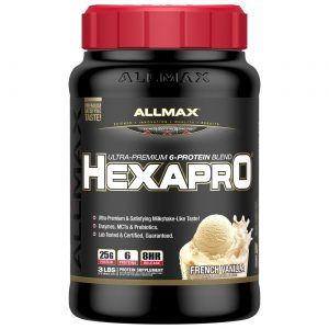 HexaPro Allmax 3lbs / 1360гр - Основната цел на протеинa е да постигне максимална абсорбция. HexaPro, е обогатен с допълнително 5 вида аминокиселини.