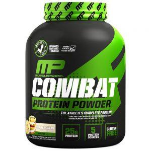 Combat Protein Powder / 1814гр - специална бленда, съдържаща суроватъчен протеин концентрат, хидролизат, както и яйчен албумин и мицеларен казеин.