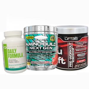 Стрийт фитнеса фенове избрахме за вас - Promo Stak Feel Good. Три топ продукта на пазара Liftag U-Lift, MuscleTech AminoBuild и Universal Daily Formula