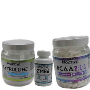 Промо стак PROACTIVE - специално избран за тези, които искат да затворят цикъла на перфектният прием от добавки за качествена тренировка и възстановяване.
