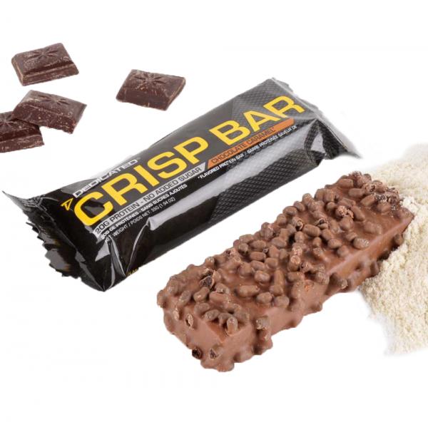 Протеинов бар Chrisp / Dedicated - перфектен вариант, който да се превърне в заместител на здравословно хранене, когато нямате време