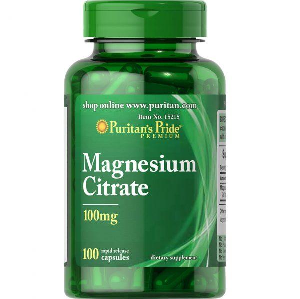 Magnesium Citrate 200mg / 90 табл - намалява стреса, мускулните схващания и крампи и подобрява съня, има за цел да подпомага растежа на костите