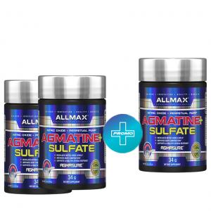 Agmatine PLUS Allmax / 34гр е - Основното съдържание на продукта е Агматин Сулфат, който е декарбоксилиран продукт на Аргинина
