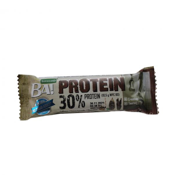 Ba! Protein bar No Shugar / 35гр - BA! протеинови барове съдържат висококачествени сурватъчни протеини (WPC 80) и натурални разстителни екстракти