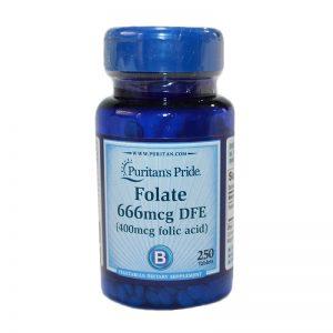 Folate 666mcg DFE / Фолат 250тб -е другото широко разпространено наименование на водно разтворимият витамин В9. Доказано качество!