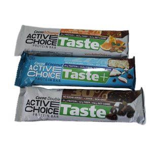 Протеинов бар Active Choice / 70гр - протеинов бар с високо съдържание на протеиниLow Sugar бленда (овкусени със стевия)