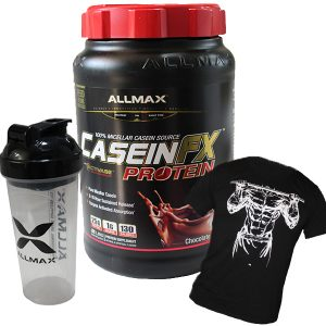 CaseinFX Protein 2lbs / 907гр - висикокачествен мицеларен казеин на марката Allmax, с 8-10 часово постепенно усвояване.